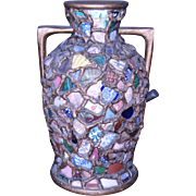 Antique Monumental  FRENCH PIQUE ASSIETTE Shard Ware Broken China Large Vase