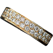 Dazzling 18kt Gold 1.01ct Diamond Wedding Band