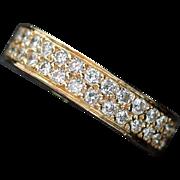 Dazzling 18kt Gold 1.01ct Diamond Wedding Band