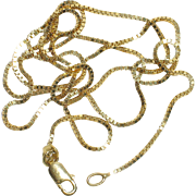 Italian made 24 inch 10k fine box chain