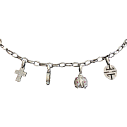 CMCC SALE! Superb 18kt ITALY Diamond Ruby Charm Bracelet