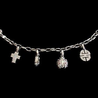 CMCC SALE! Superb 18kt ITALY Diamond Ruby Charm Bracelet
