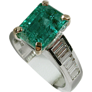 BCPC SALE! REGAL 3.53ct Emerald & Diamond Ring