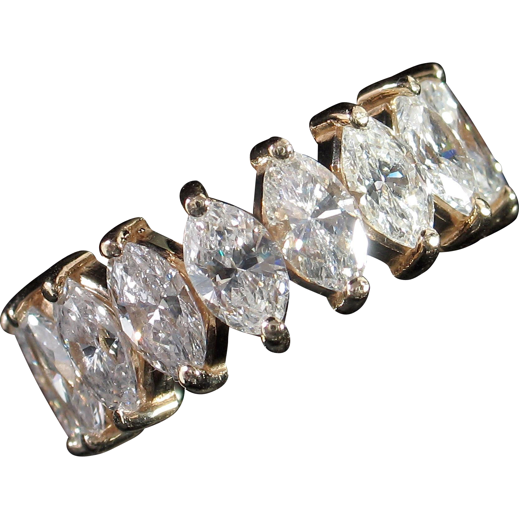 CMCC SALE! Spectacular 5.20ct Hi-End Marquise Diamond Eternity Band