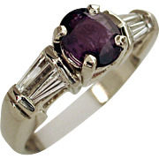 Beautiful 1.28ctw Natural ALEXANDRITE and Diamond Ring