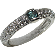 BCS SALE! Brilliant Color-Changing Natural Alexandrite & Diamond Ring