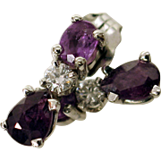 Sweet & Petite 14kt NATURAL Alexandrite & Diamond Stud Earrings