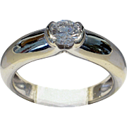 CHRISTMAS CLEAROUT SALE! Save 50%! Cartier 1996 'Ideal' Cut VVS2/G-H 0.30ct Diamond Solitaire Ring