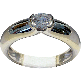 SAVE $500 in our SUPER SUMMER SALE! Cartier 1996 'Ideal' Cut VVS2/G-H 0.30ct Diamond Solitaire Ring