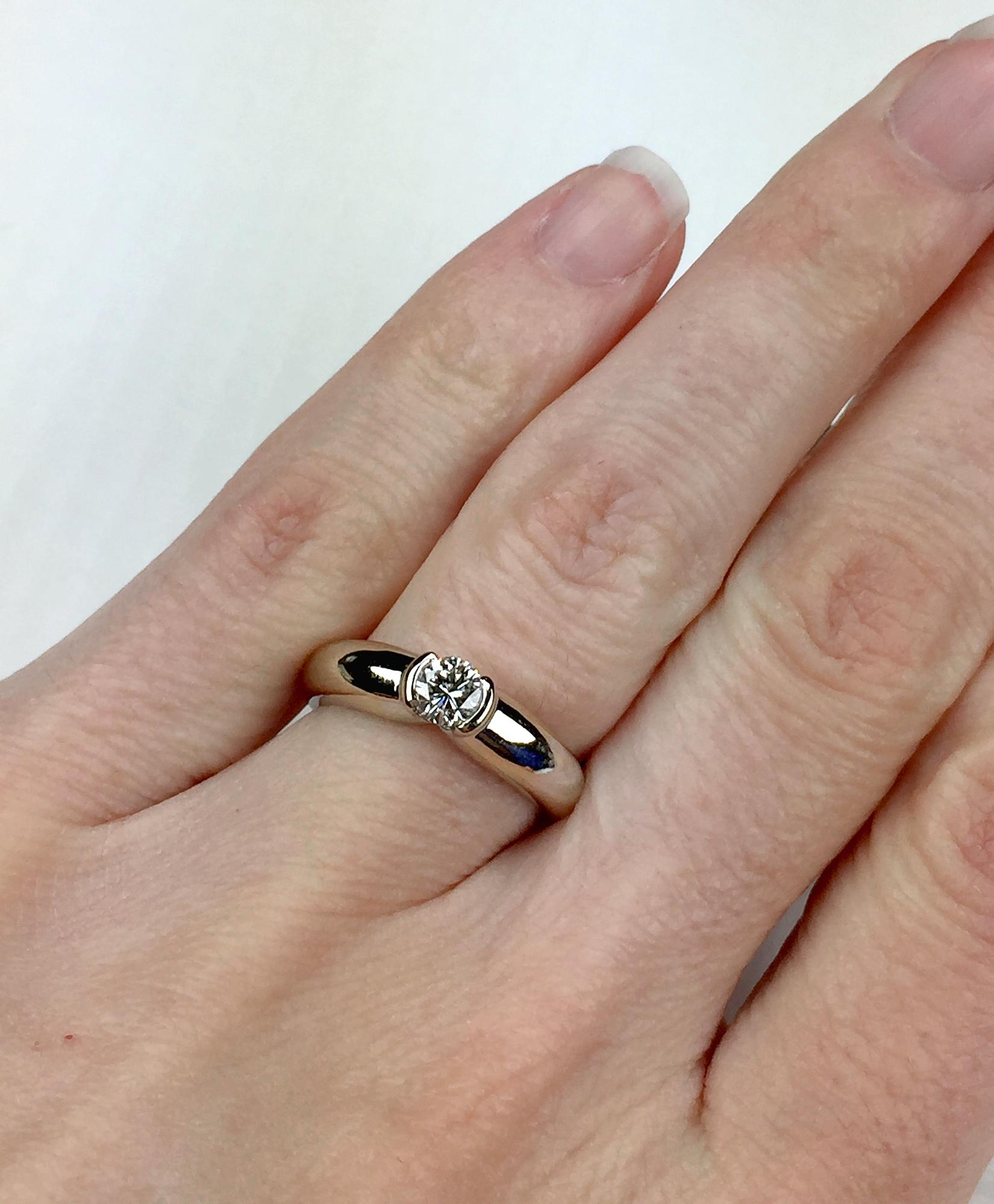 cartier 1996 ideal cut vvs2 g h 0 30ct diamond solitaire ring