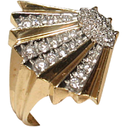 "CMCC SALE! Erte ""Coquillage"" 14k Diamond Ring - Artist Proof!"