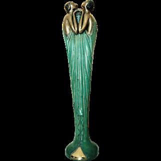 """ERTE """"FLORA 1"""" Bronze Bud Vase - ConKer 1984: #70 of 250"""