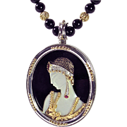 "CMCC SALE! ""Salome"" Pendant/Necklace/Pin - CFA, 14k, SS, Designer Signed: ERTE!"