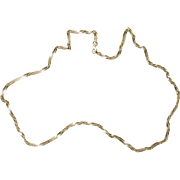 "Hallmarked R&B 10k glittery twisted 18"" chain"