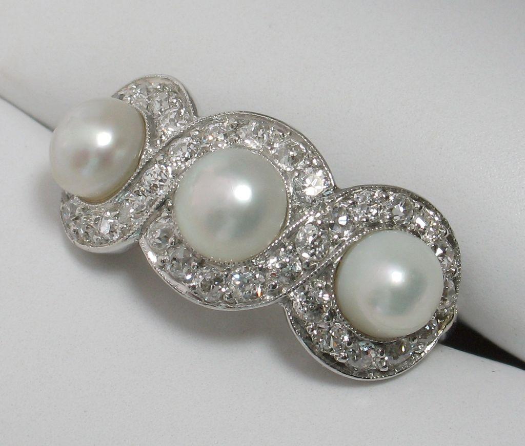 50% OFF RARE TIFFANY & Co Antique Edwardian Platinum Pearl