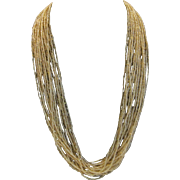 Vintage golden seed bead necklace