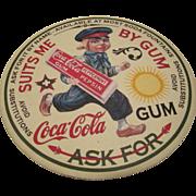 Vintage rare Coca-Cola Gum Coaster