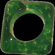 Vintage green square lucite bracelet