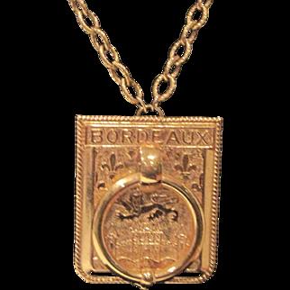 Vintage Vendome golden pendant necklace
