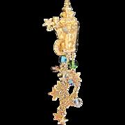 Vintage Kirks Folly  Wizard pendant pin combination