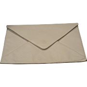 Vintage white leather clutch purse from LaBagagerie Paris