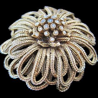 Vintage gold tone Coro pin