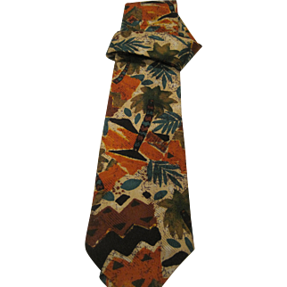 Vintage Italian silk Ermenegildo Zegna men's tie
