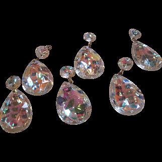 Vintage teardrop clear lamp crystals