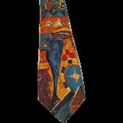 Vintage Ermenegildo Zegna silk tie Italian designer