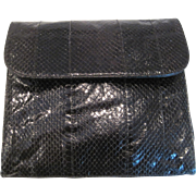 Vintage hasting & smith black snakeskin purse