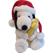 Vintage Snoopy and Tweety in Christmas Stocking Hats