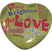 Vintage Brighton heart shaped advertising tin
