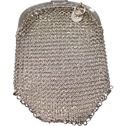 Vintage sterling silver mesh coin doll purse from Portugal