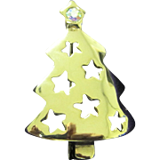 SALE Vintage Christmas tree pin with AB star