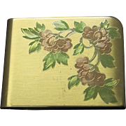 SALE 50% Vintage Elgin American Embossed Floral Compact
