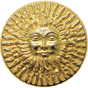 SALE Vintage Original by Robert smiling sun belt buckle