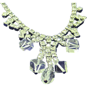 SALE 50% Vintage crystal and ice rhinestone necklace