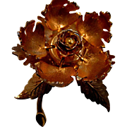 SALE Vintage Warner mechanical flower brooch