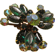 Vintage green pin for Christmas