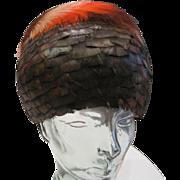 Vintage Schiller's Lorienne Original all sculpted feather hat