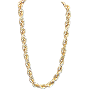 Vintage Napier twisted goldtone color rope chain