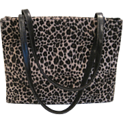 Vintage faux leopard print purse by Bebe