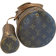Vintage Louis Vuitton monogrammed Papillon bag with Papillon pochette