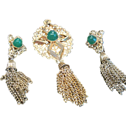 Vintage Sarah Coventry matching pendant, pin and earrings set