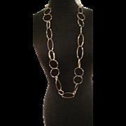 Vintage goldtone looped necklace