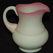 Fenton Art Glass Co.,Burmese Satin Glass Creamer
