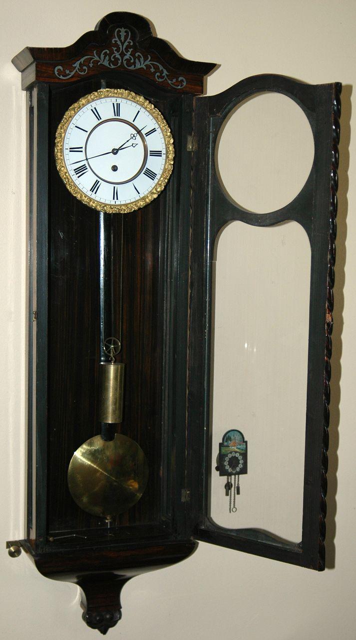 Antique Austrian Vienna Regulator Wall Clock One Weight