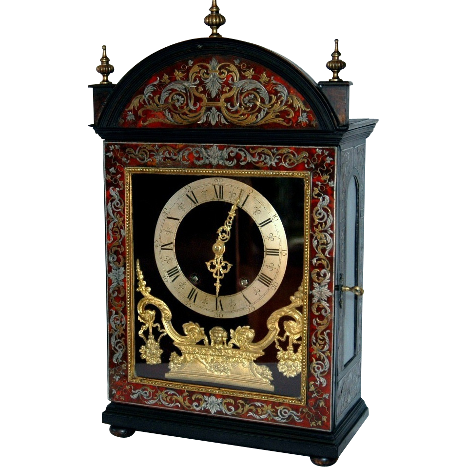 Antiques Collectibles: Antique French Boulle Marquetry Bracket Clock : Viktorija