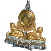 Swiss  Art  Nouveau Small Table or Desk Clock