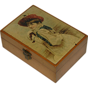 Mauchline Box w/Litho Girl on top